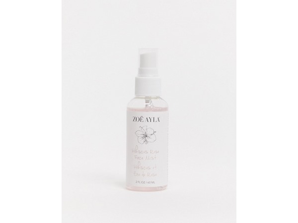 Zoe Ayla Hibiscus Rose Face Mist-Clear