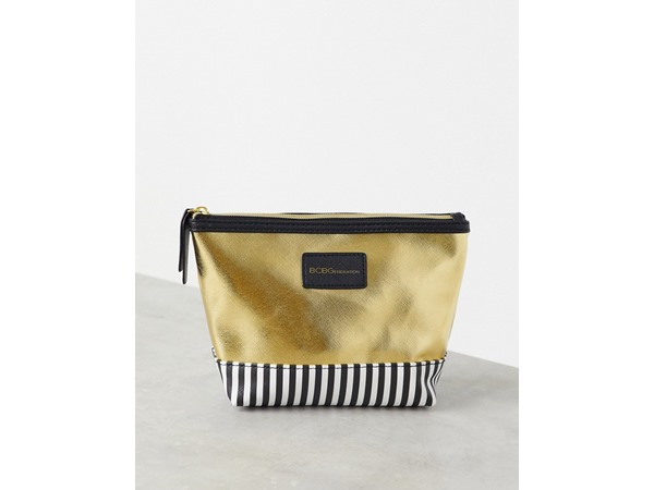 Zip Top Make-Up Pouch-Gold