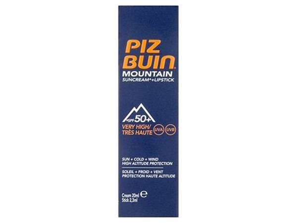 Piz Buin Mountain Suncream + Lipstick Spf50+