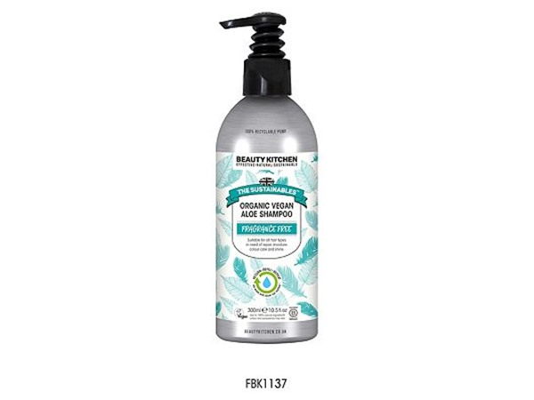 Beauty Kitchen The Sustainables Fragrance Free Organic Vegan Shampoo Aloe Vera