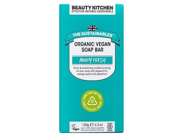 Beauty Kitchen The Sustainables Minty Fresh Organic Vegan Soap Bar