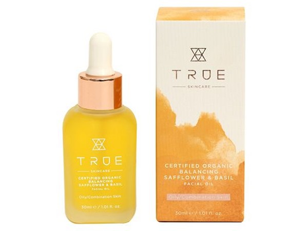 True Skincare Certified Organic Balancing Safflower & Basil Facial Oil