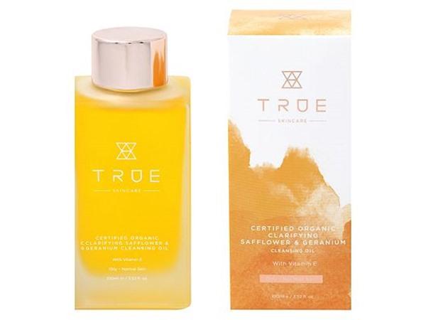 True Skincare Certified Organic Clarifying Safflower & Geranium Cleansing Oil