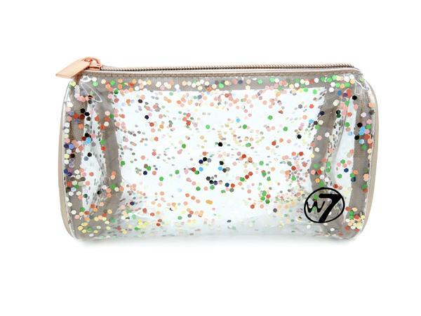 Clear Glitter Cosmetics Bag