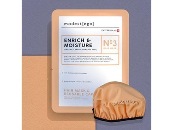 Modest Ego Organic Orange Oil Moisture Hair Mask Cap