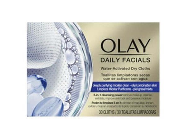 Olay Daily Facials Cleanser Oily Skin 30 Face Wipes