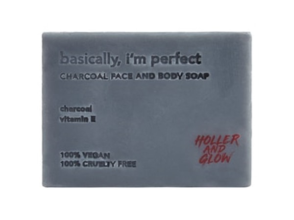 Holler & Glow Basically, I'M Perfect Charcoal Soap