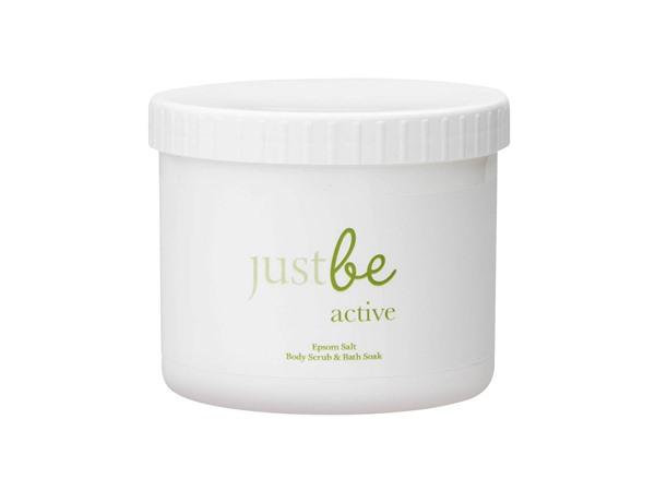 JustBe Botanicals Active Epsom Salt Body Scrub & Bath Soak