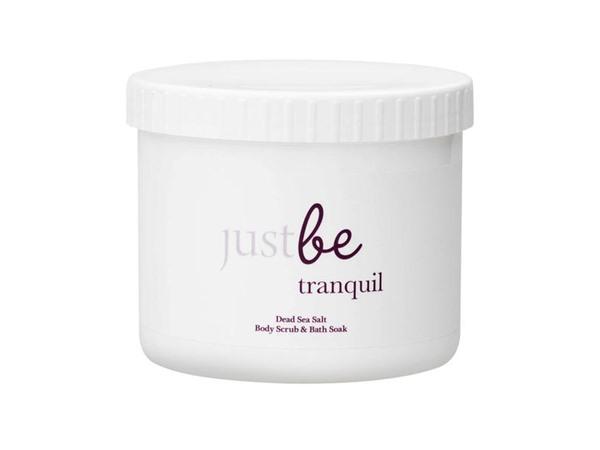 JustBe Botanicals Tranquil Dead Sea Salt Salt Body Scrub & Bath Soak