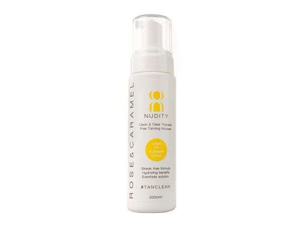 Rose & Caramel Nudity Clear Self Tanning Mousse