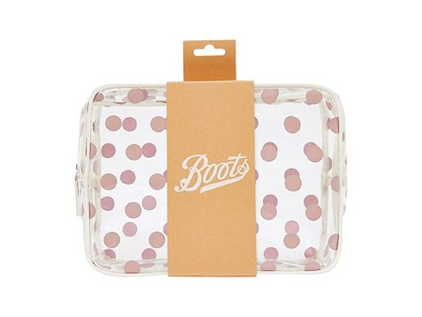 Clear Spotty Flat Square Bag