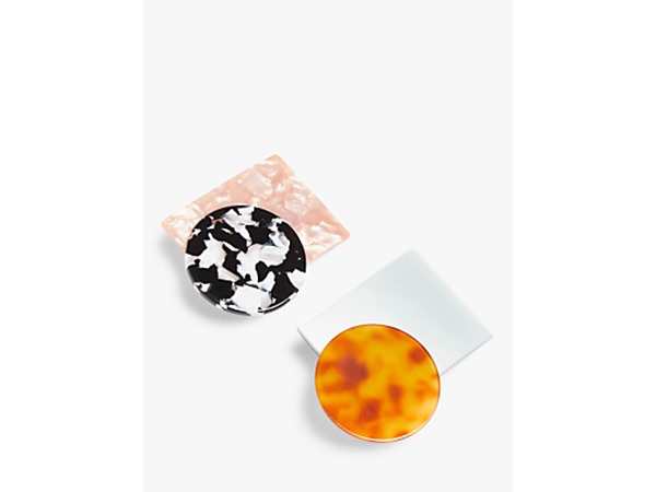 Abstract Resin Hair Clips