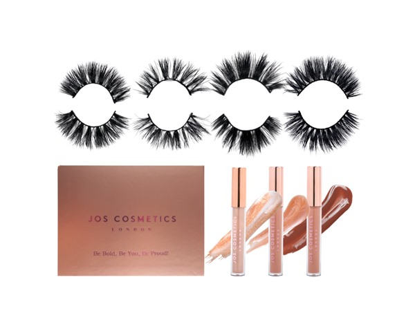 Jos Cosmetics London Lash, Gloss & Eyes Bundle