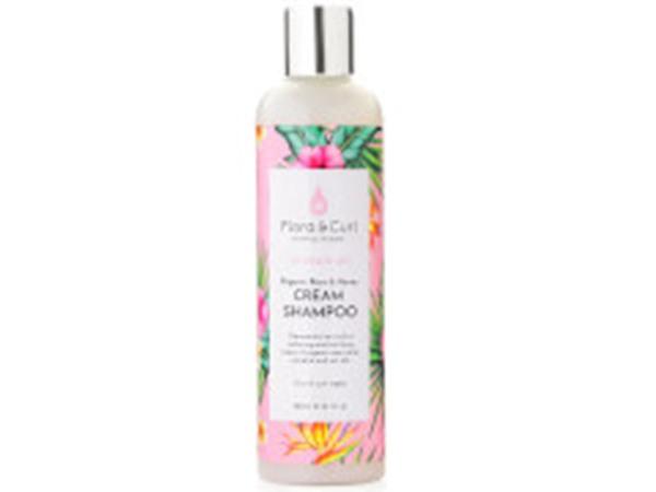 Flora & Curl Organic Rose & Honey Cream Shampoo