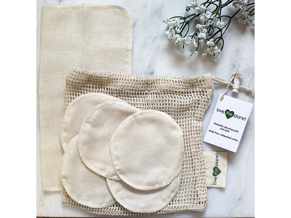 Love The Planet Muslin Cleansing Rounds and Cloth