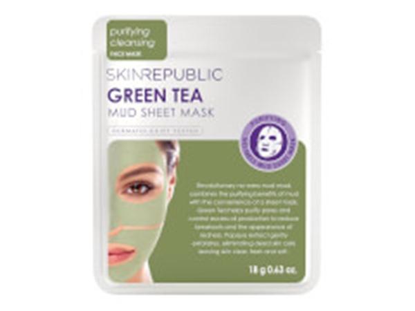 Skin Republic Green Tea Mud Face Sheet Mask