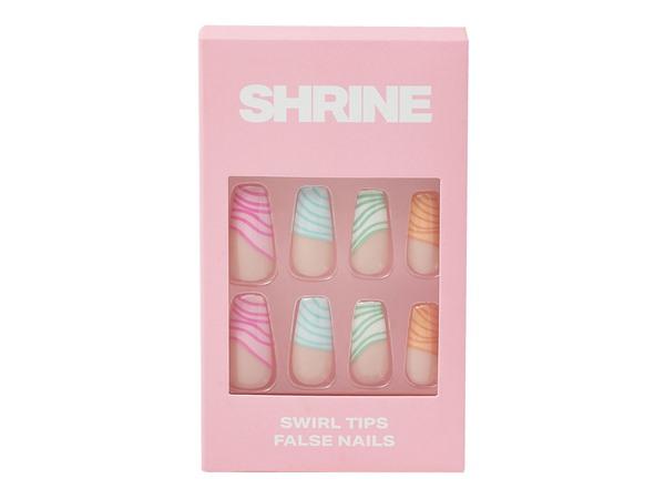 Shrine Swirl Tip False Nails