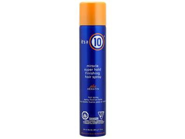 It's a 10 Keratin Collection Miracle Super Hold Finishing Spray Plus Keratin
