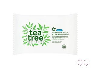 Superdrug Tea Tree Sensitive Wipes 30